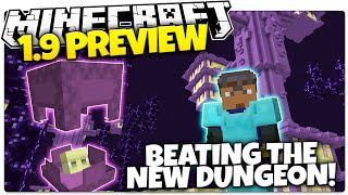 Minecraft 1.9 Snapshot RECREATION | BEATING THE NEW END CITY DUNGEON (Minecraft 1.9)