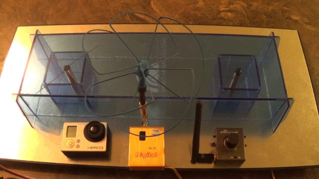 1.2G 1.5W Wireless 1500mw AV Transmitter Receiver Kit RC Model FPV Video RT @
