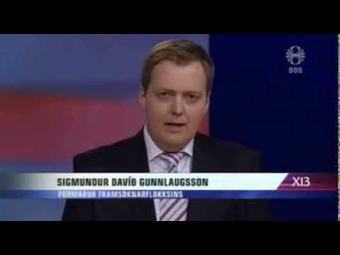 Sigmundur Davíð í kosningabaráttunni á RÚV