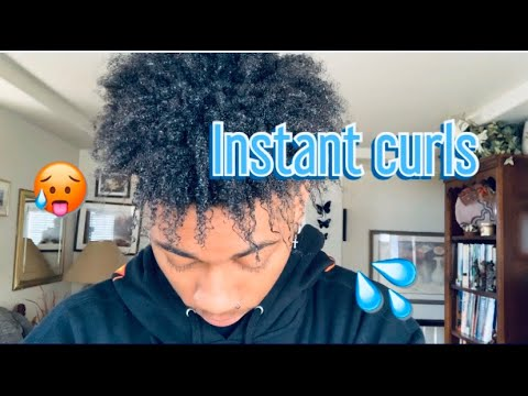 how to turn nappy hair curly for men