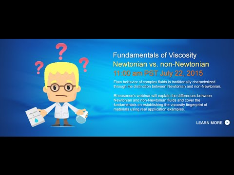 Viscosity Fundamentals Webinar Newtonian Non Newtonian Youtube