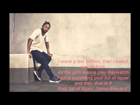 Kendrick Lamar Swimming Pools Drank Clean Lyrics Youtube