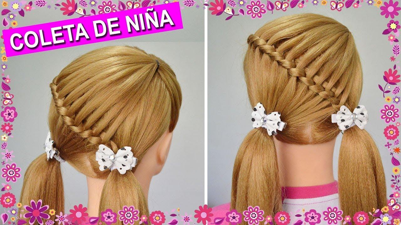 Peinados coletas para ni as con trenzas faciles y bonitas - Peinados fiesta faciles ...