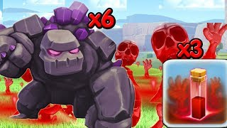 Clash Of Clan | Golem  Skeleton Attack In TH10 | TH10 New Strategy