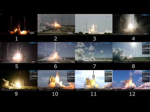 All SpaceX ISS Launches Synchronized In One Video