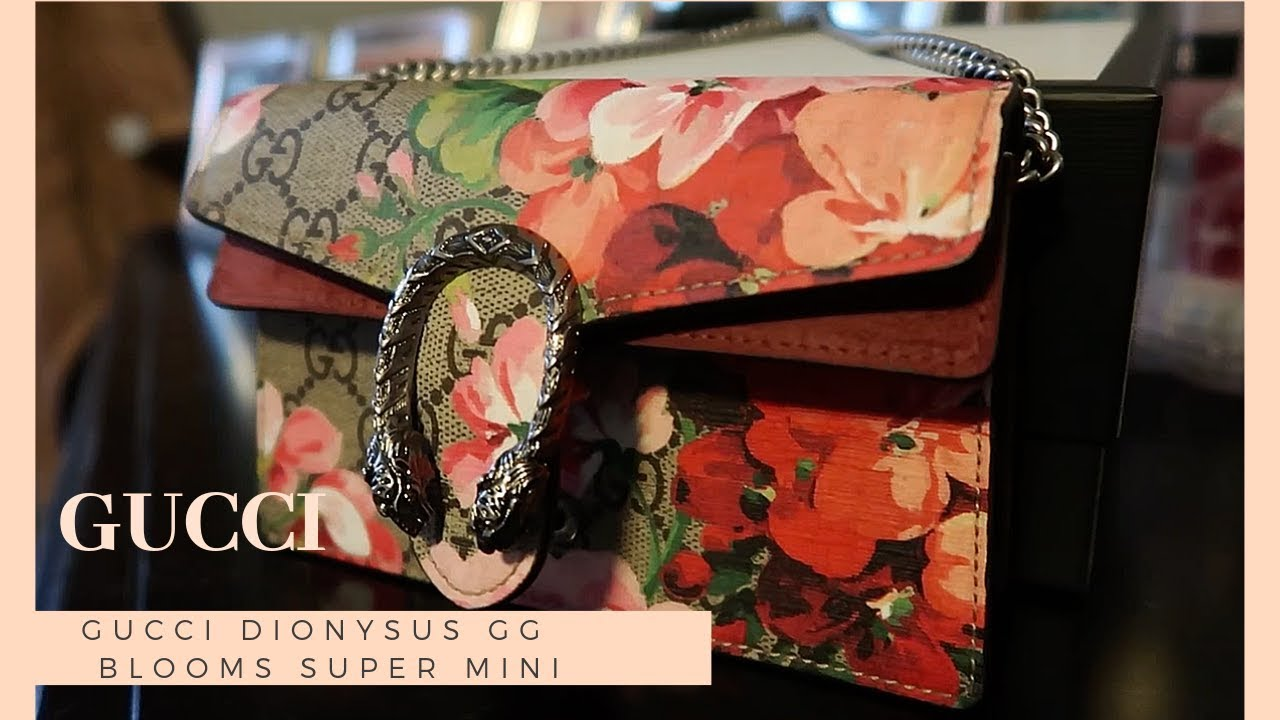 47b71a4ec Gucci Dionysus GG Blooms Super Mini Bag Unboxing & Review - YouTube