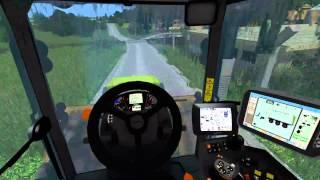 Güllle fahren auf der Czech Map mit Claas Axion 950 / Cabview / LS15