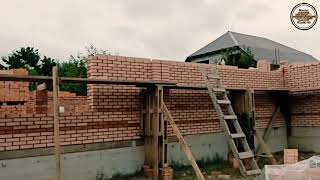 Стройка в Чеченском стиле, новые решении кладка Грозненского кирпича