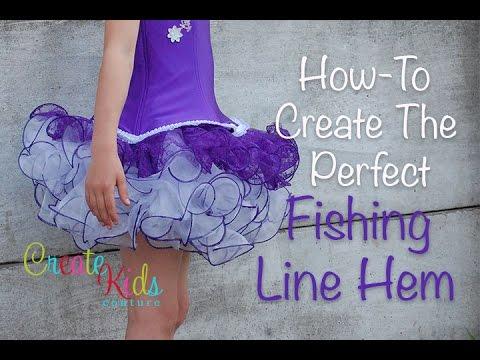 5a5d44af1227 Fishing Line Hem Tutorial by CKC Patterns - YouTube