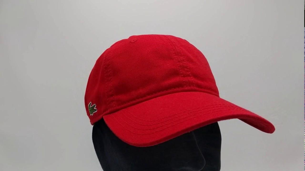 1bd1701f1d9 Lacoste pet - Gabardine cap - rouge red - €34