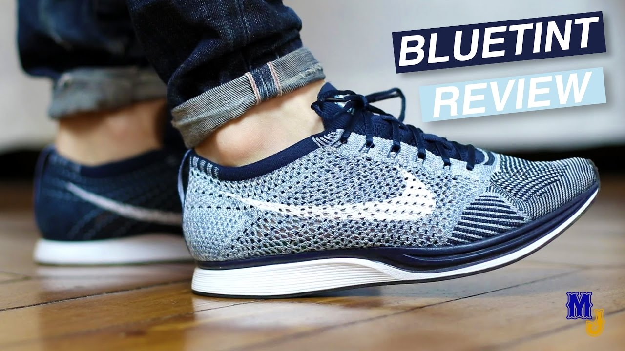 7dc3f24ea400 Nike Flyknit Racer Bluetint review  FR  + on feet - YouTube