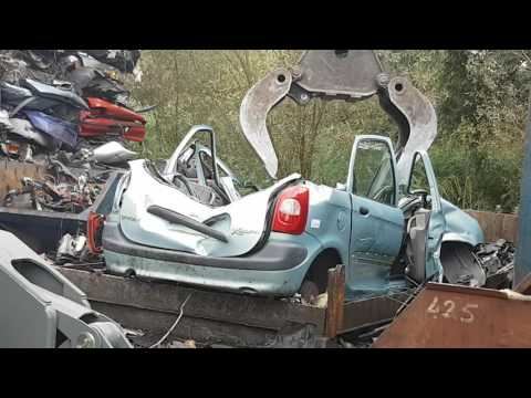 cars crushed on the car scrapyard with djlau1