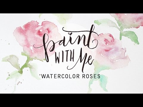 Paint with me watercolor roses tutorial easy beginner for How to paint a rose watercolor