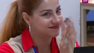 د. ماجد حمد، علا ناطور، رنا شلبي وسارة النابلسي - اولومبياد اللغة الانجليزية الثاني