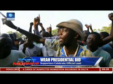 Fans Celebrate Weah's Early Lead In Liberia's Presidential Election |Sports This Morning|