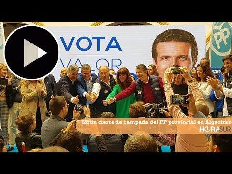 🎥 Mitín cierre de campaña del PP provincial en Algeciras