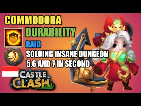 Castle Clash   Best Durability Setup Talent And Insignia  Commodora - Raid And Dungeon In Second