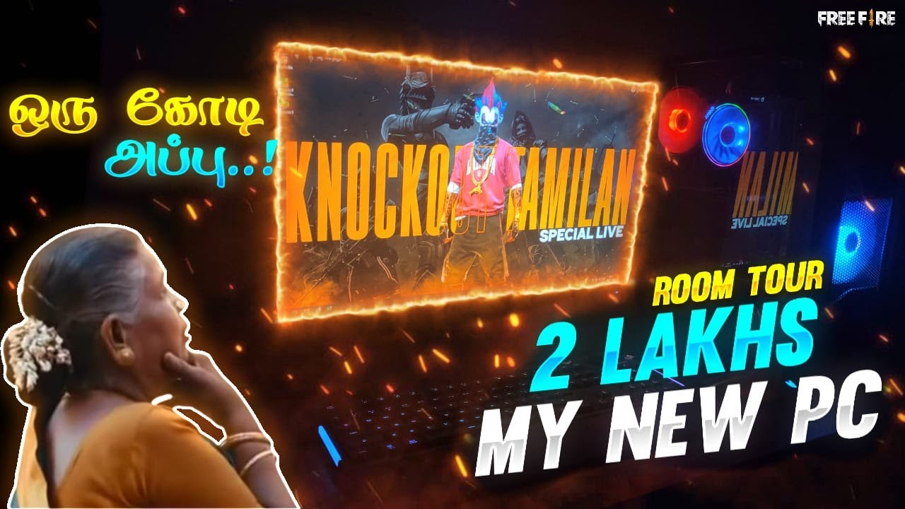 MY😃 NEW PC 🖥️ & ROOM TOUR💥 || 🎉 face 🎉 || knockout tamilan room TOUR 😱