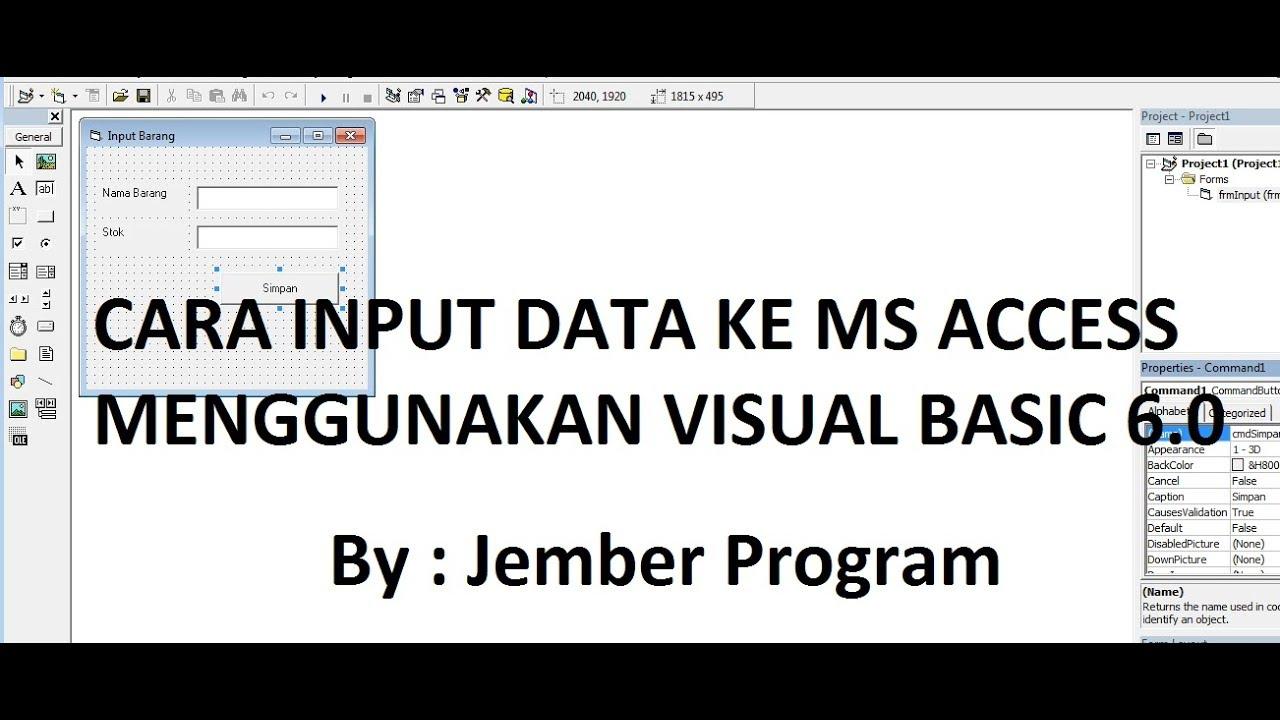 Cara Input Data Di Microsoft Access