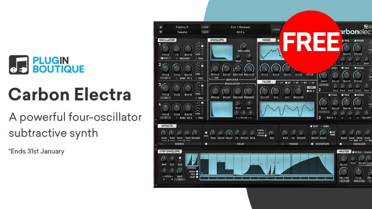 Free VST Synth | Carbon Electra by Plugin Boutique