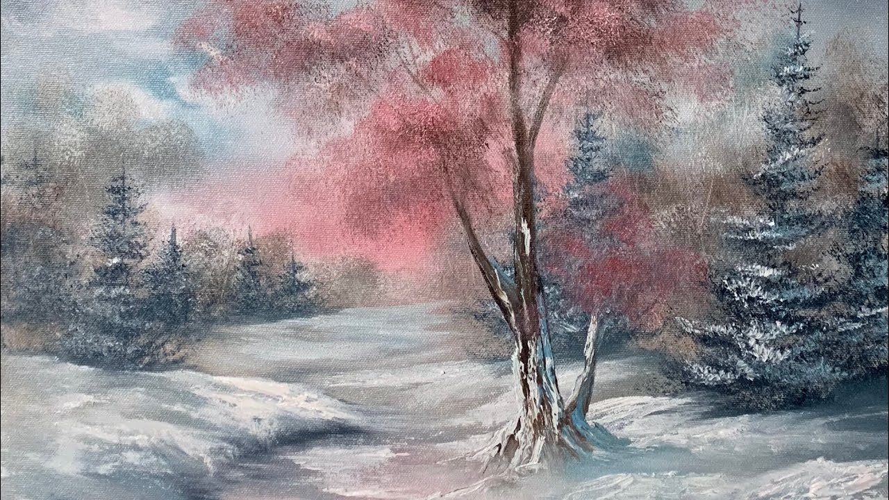 oil painting a winter landscape unedited paintings by. Black Bedroom Furniture Sets. Home Design Ideas