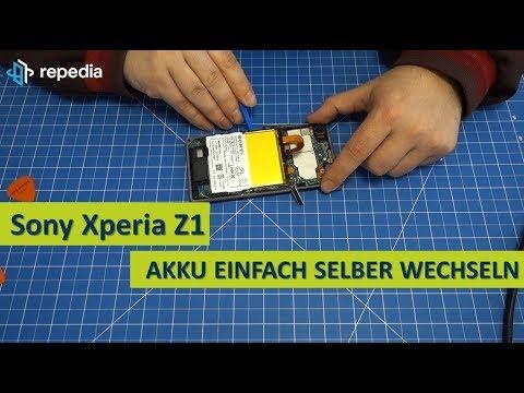 Sony Xperia Z1 (C6903) - Akku Selbst Tauschen / Reparatur Anleitung / Teardown
