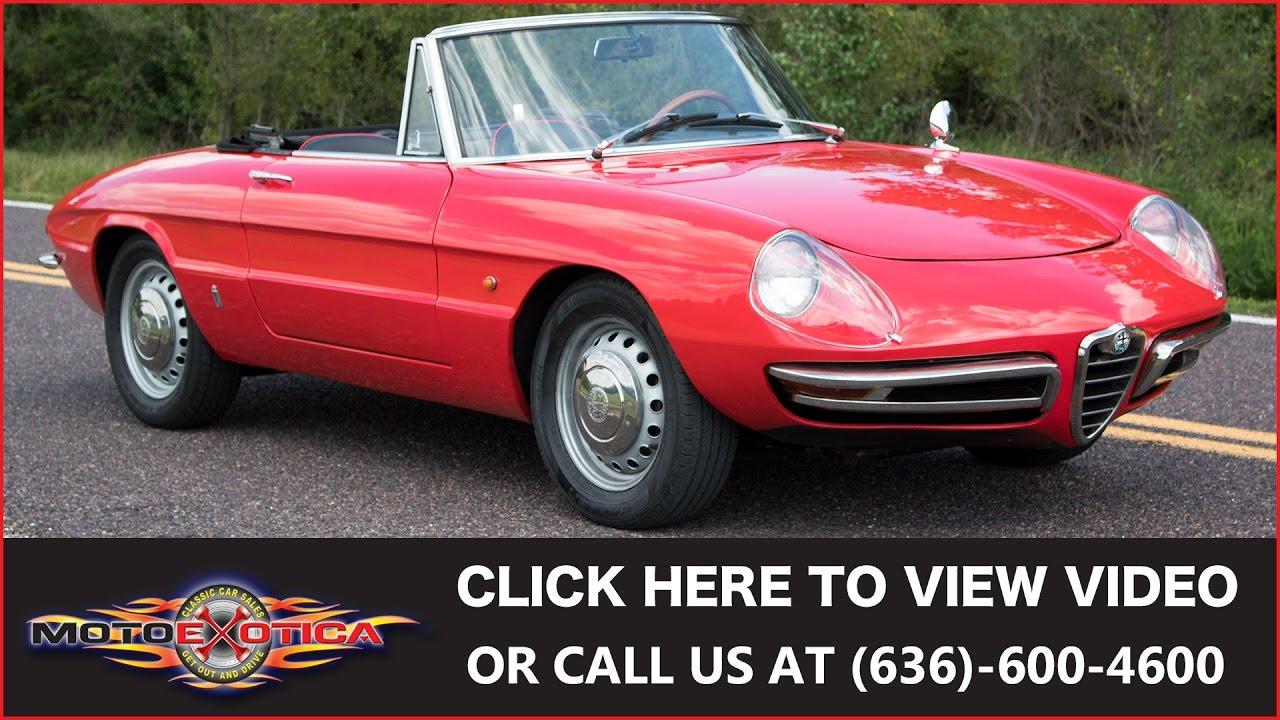 1967 Alfa Romeo Duetto Sold Youtube