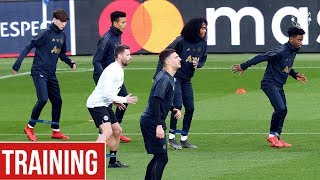 Manchester United train in Paris ahead of PSG clash | UEFA Champions League