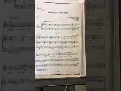 Dalmatian cradle song ABRSM Grade 3