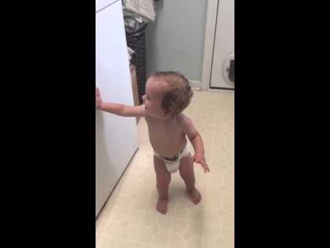 sawyer dancing to the washing machine off balance youtube. Black Bedroom Furniture Sets. Home Design Ideas