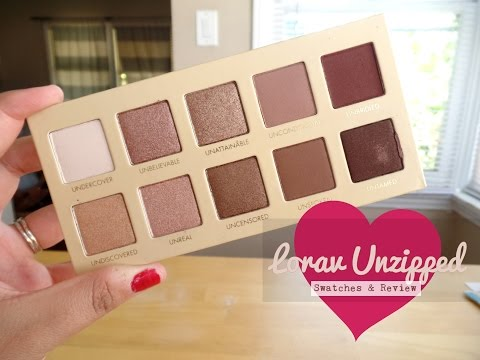 Lorac Unzipped Swatches and Review