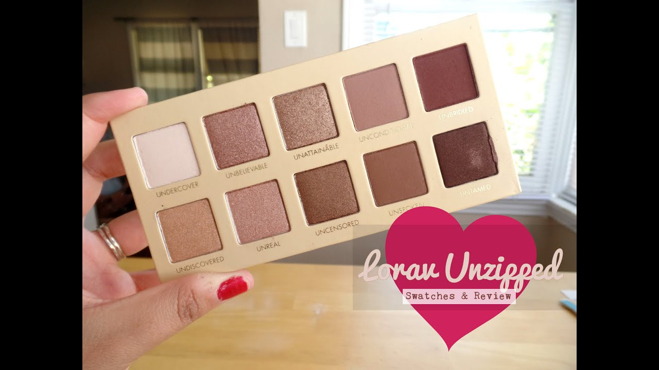 Lorac Unzipped Swatches and Review - YouTube
