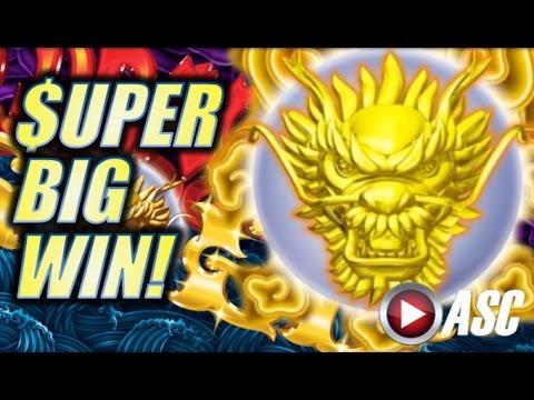 ★SUPER BIG WIN!★ IT'S ELECTRIC!! 5 DRAGONS GOLD (Aristocrat) Slot Machine Bonus