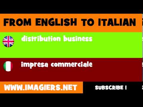 How to say distribution business in Italian