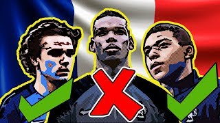 FRANCE'S FIFA World Cup 2018 RUSSIA | Predicted Lineup & Squad  | Ft. Mbappe Griezmann Pogba