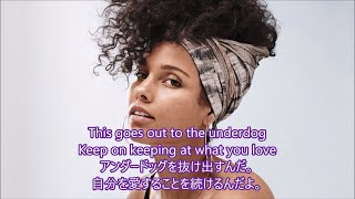 Gambar cover 洋楽 和訳 Alicia Keys - Underdog