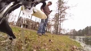 black lab retrieving with GoPro hero 3