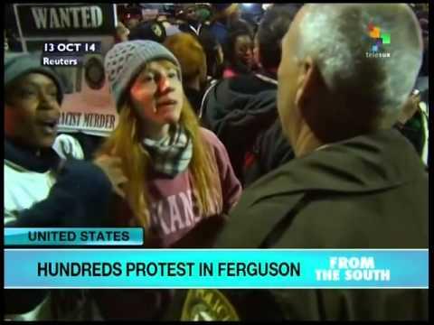 Hundreds Protest shootings in Ferguson Missouri