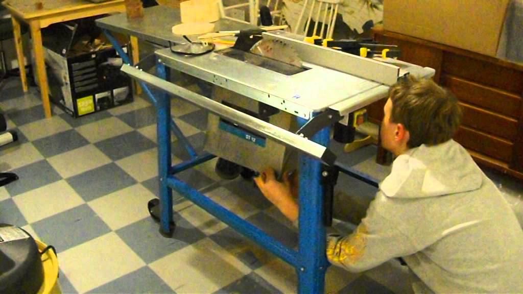 Setting up a cheap table saw - YouTube