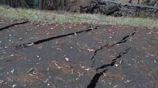 Leilani Estates Hawaii Lava Flow Kahukai Street Cracks 5/15/2018