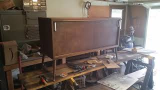 Mid-century Modern Credenza Record Player Stand by the Oregon Workbench