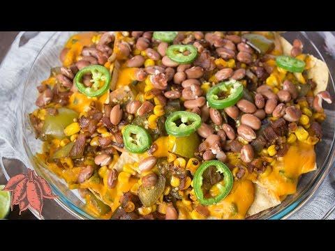 Cheesy Loaded Vegan Nachos 😜
