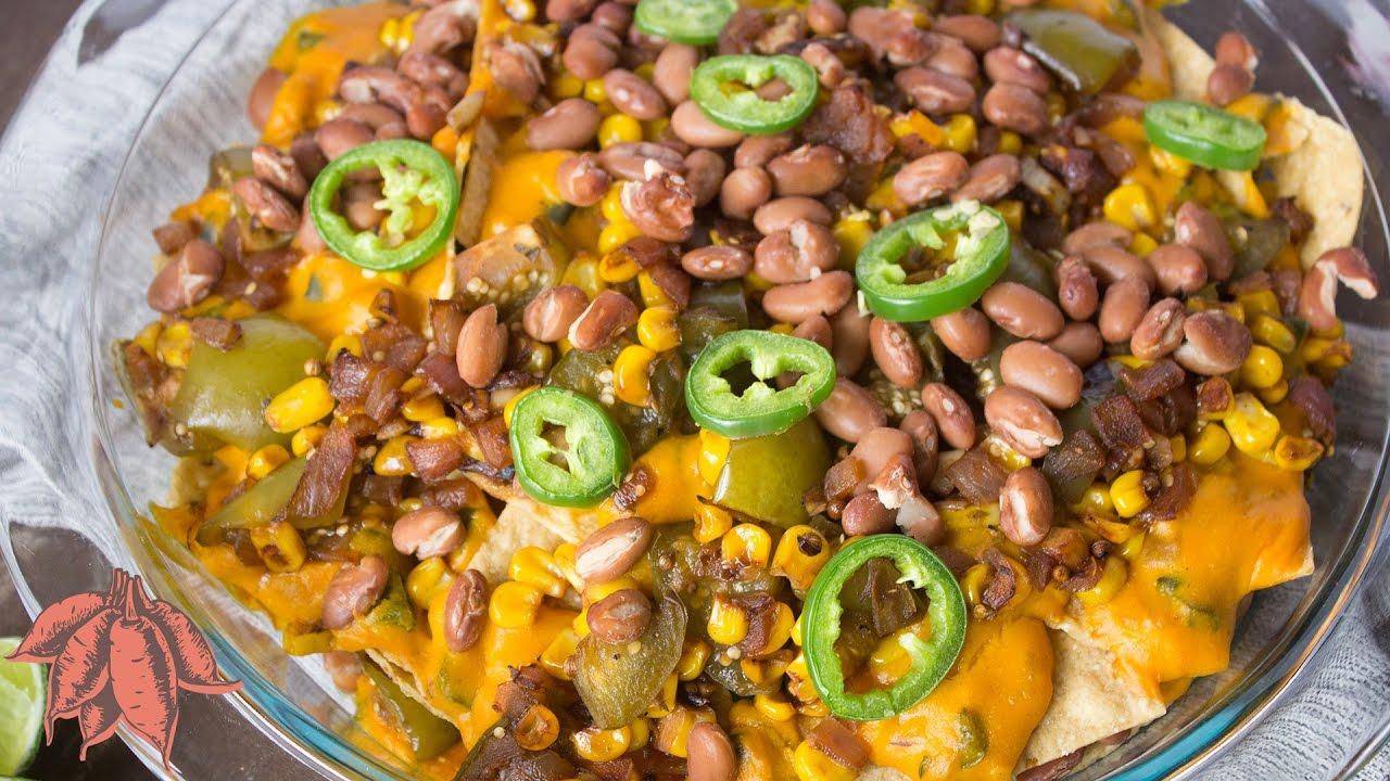 Cheesy Loaded Vegan Nachos