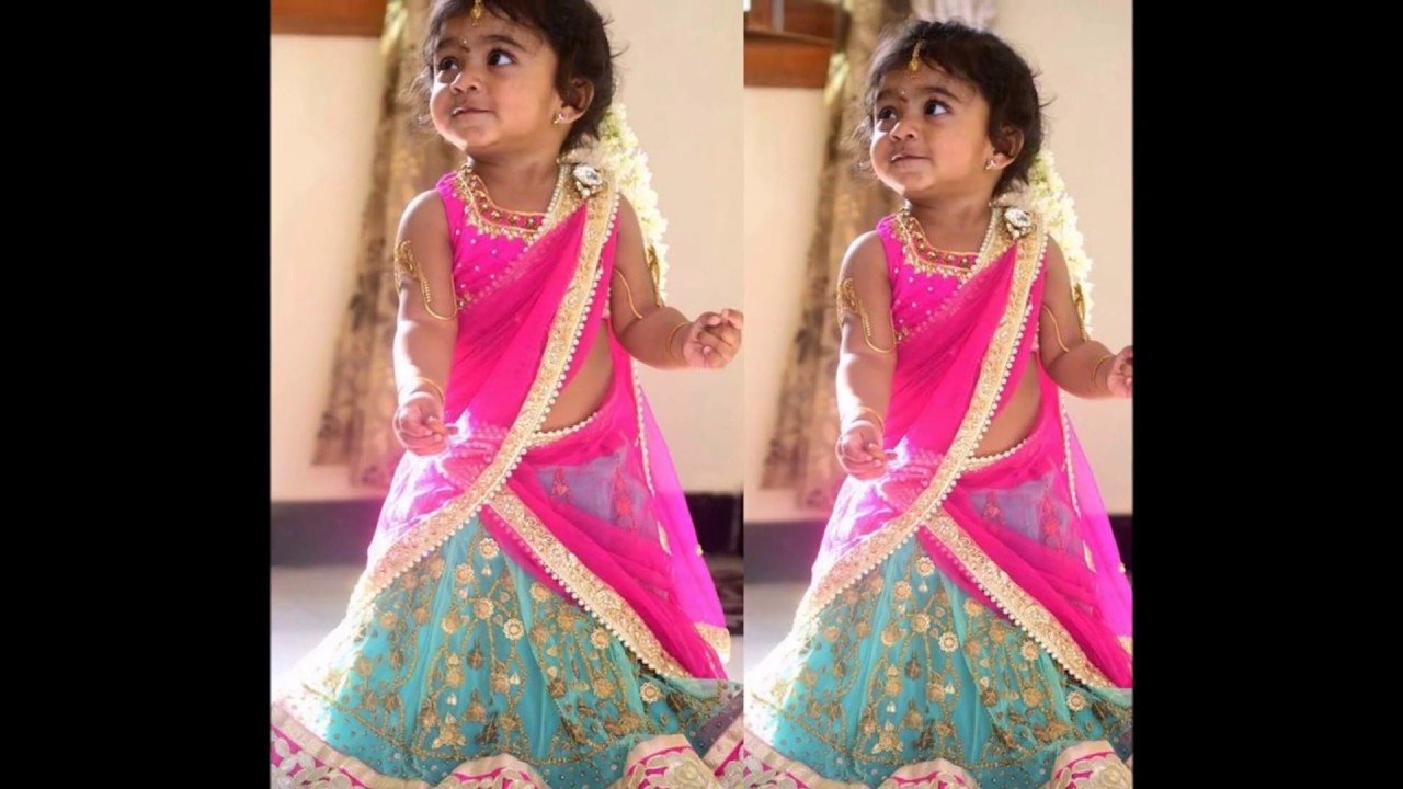 awesome kids half saree collections youtube