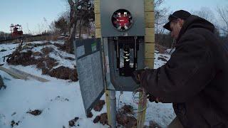 Installing an underground electric service