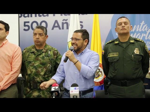 Consejo de Seguridad en Santa Marta tras asesinatos en la ciudad