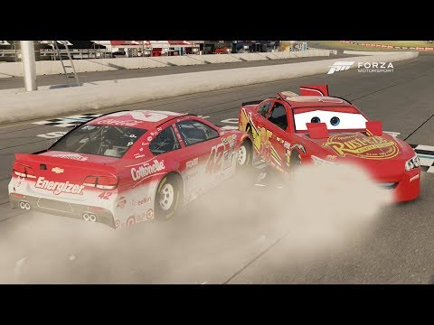 Lightning McQueen Wrecks and Wins!   Forza Motorsport 6   NASCAR Expansion
