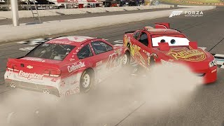 Lightning McQueen Wrecks and Wins! | Forza Motorsport 6 | NASCAR Expansion