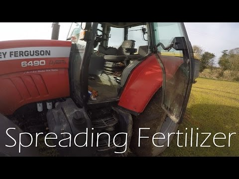 Spreading Fertilizer Massey Ferguson 6490