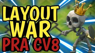 LAYOUT WAR ANTI-PT CV8/TH8 07/18—CLASH OF CLANS